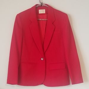 Pendleton Vintage Red 100% Wool Blazer. Size 10